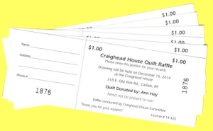 6 Raffle tickets