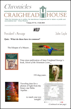 Fall 2018 Chronicles front page